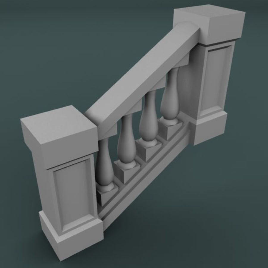 Balustrade 001_st04p royalty-free 3d model - Preview no. 2
