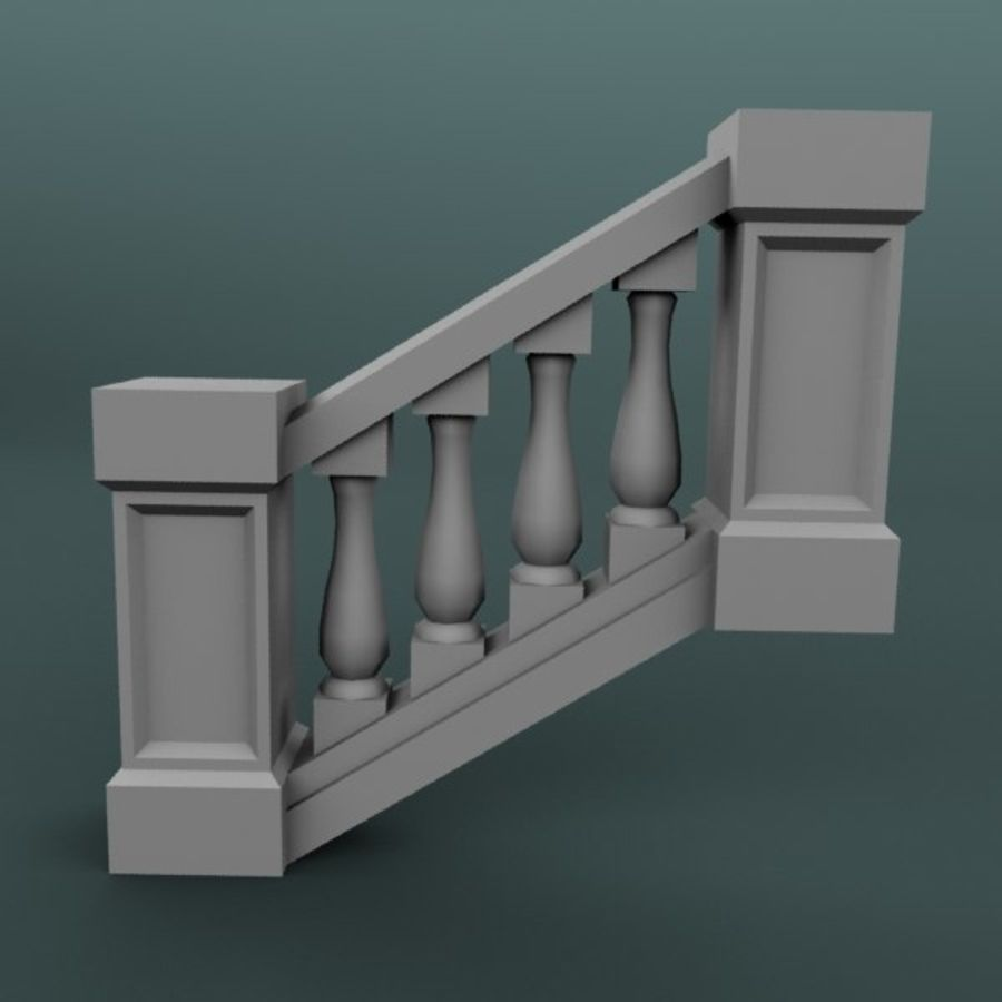 Balustrade 001_st04p royalty-free 3d model - Preview no. 1