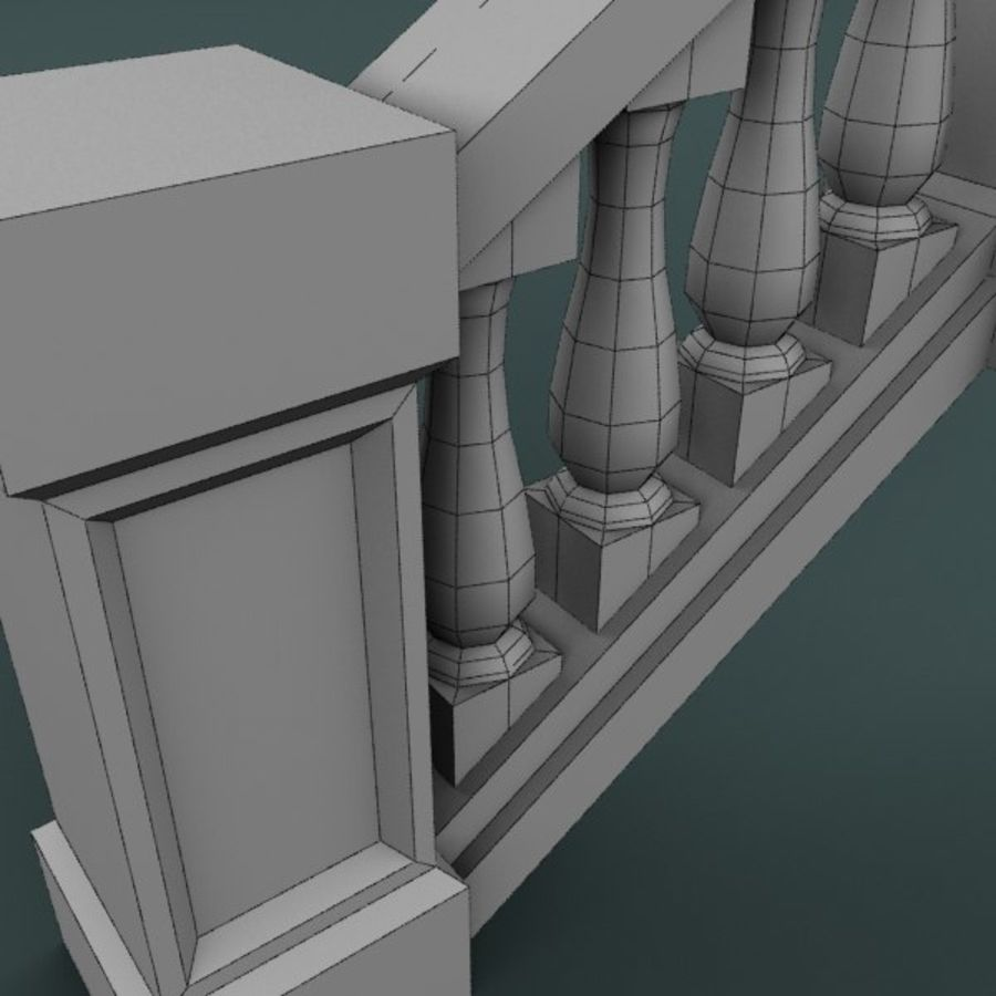 Balustrade 001_st04p royalty-free 3d model - Preview no. 6