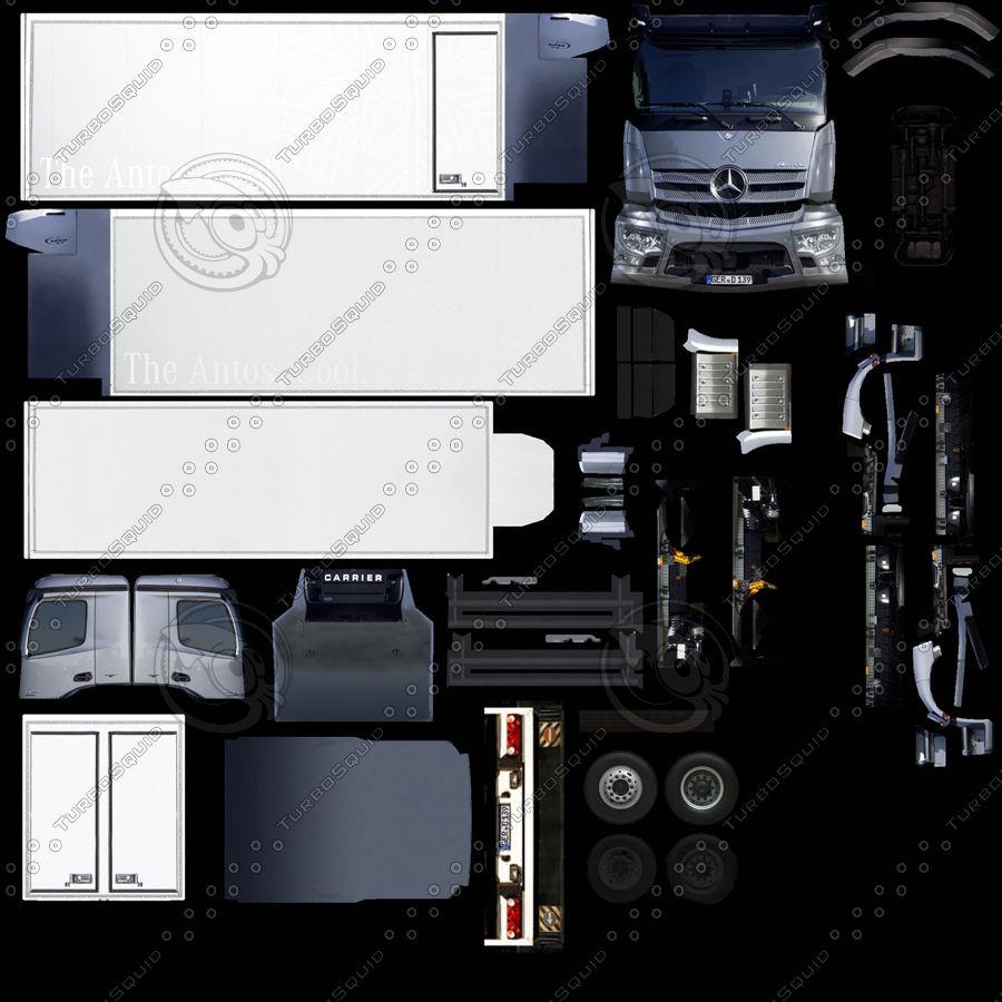 Mercedes-Benz Antos 2013 royalty-free 3d model - Preview no. 8