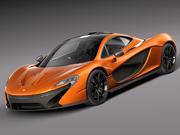 McLaren P1 concept 2013 3d model