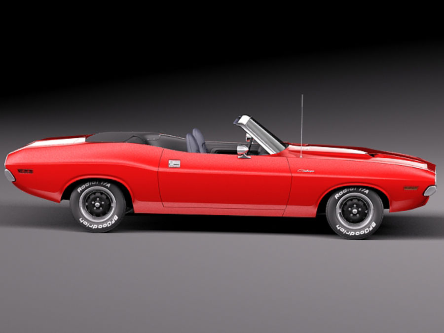 Dodge Challenger 1970 Convertible royalty-free 3d model - Preview no. 7