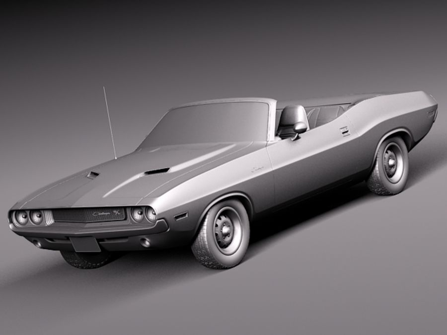 Dodge Challenger 1970 Convertible royalty-free 3d model - Preview no. 10