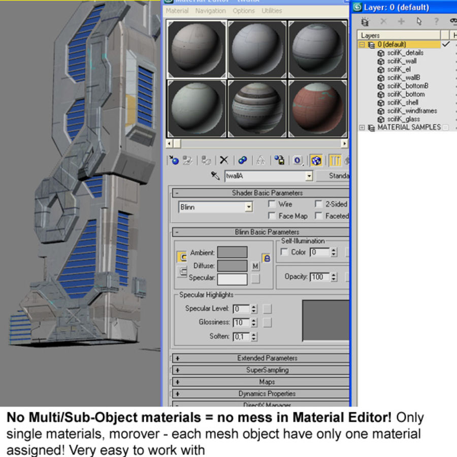 Sci Fi Building Futuristic Modern royalty-free 3d model - Preview no. 9