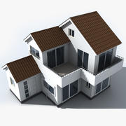 Small Japan House 3d model