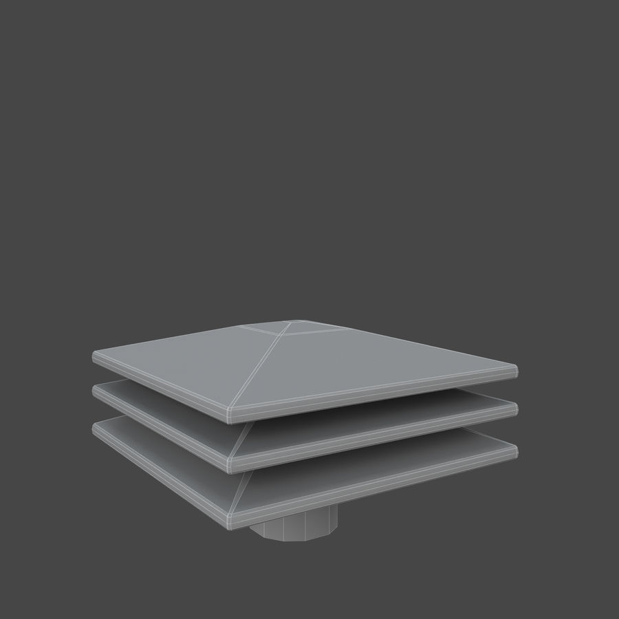 Roof Vents Bundle royalty-free 3d model - Preview no. 10