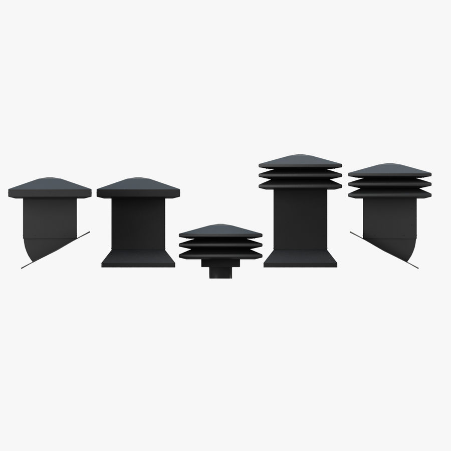 Roof Vents Bundle royalty-free 3d model - Preview no. 1