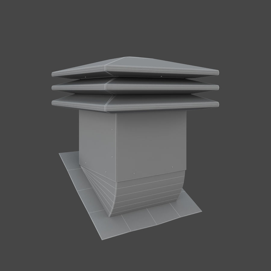Roof Vents Bundle royalty-free 3d model - Preview no. 15