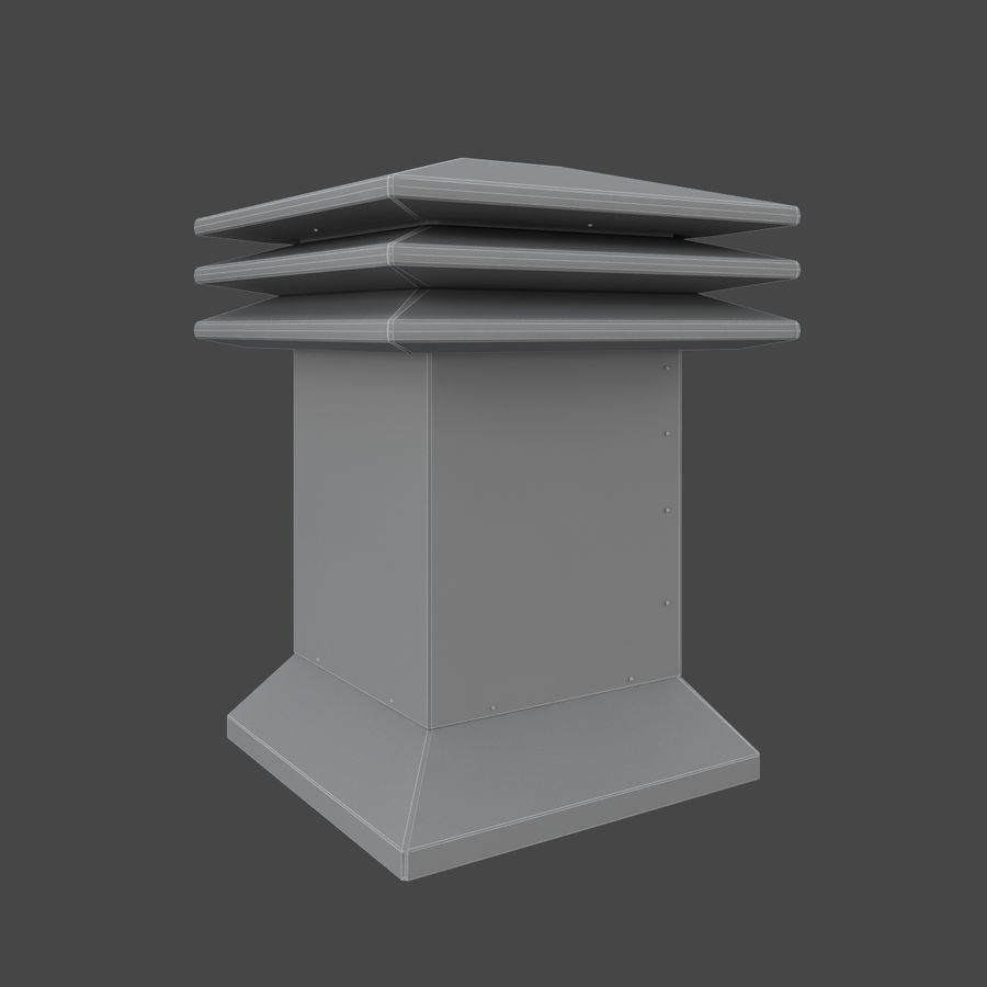 Roof Vents Bundle royalty-free 3d model - Preview no. 14