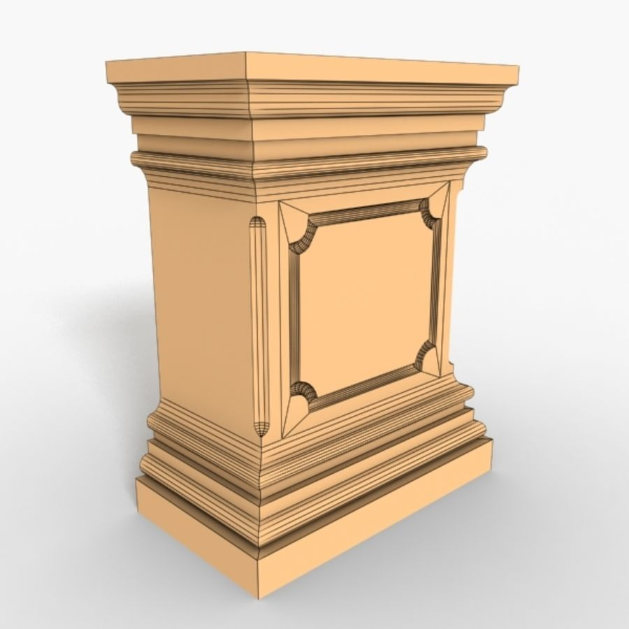 Plinth Block 001 royalty-free 3d model - Preview no. 3