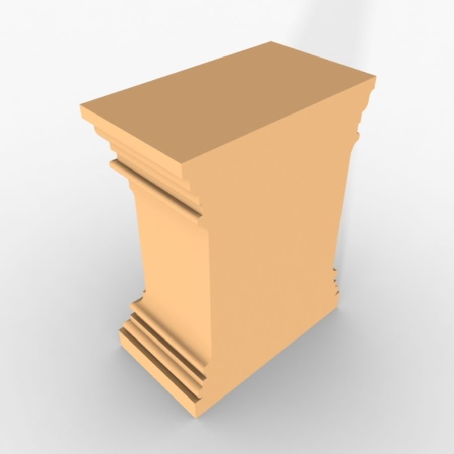 Plinth Block 001 royalty-free 3d model - Preview no. 2