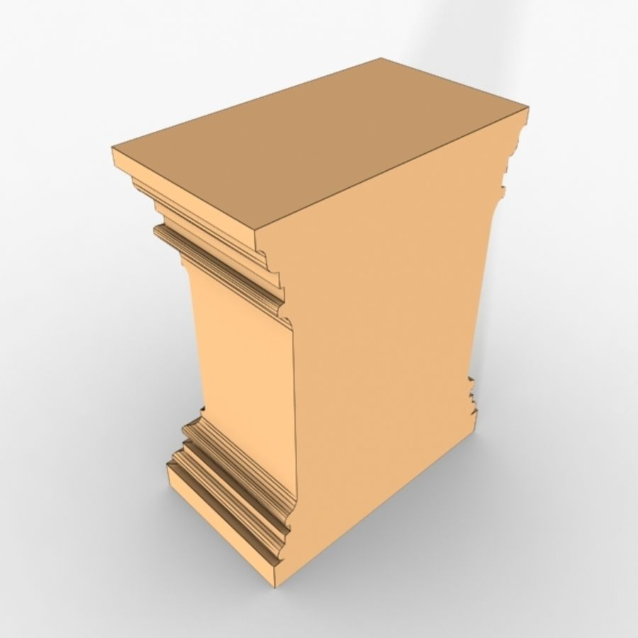Plinth Block 001 royalty-free 3d model - Preview no. 4