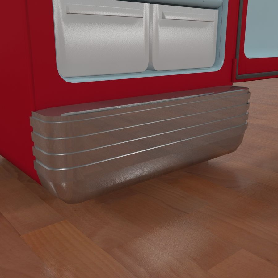Coca-Cola Refrigerator royalty-free 3d model - Preview no. 7
