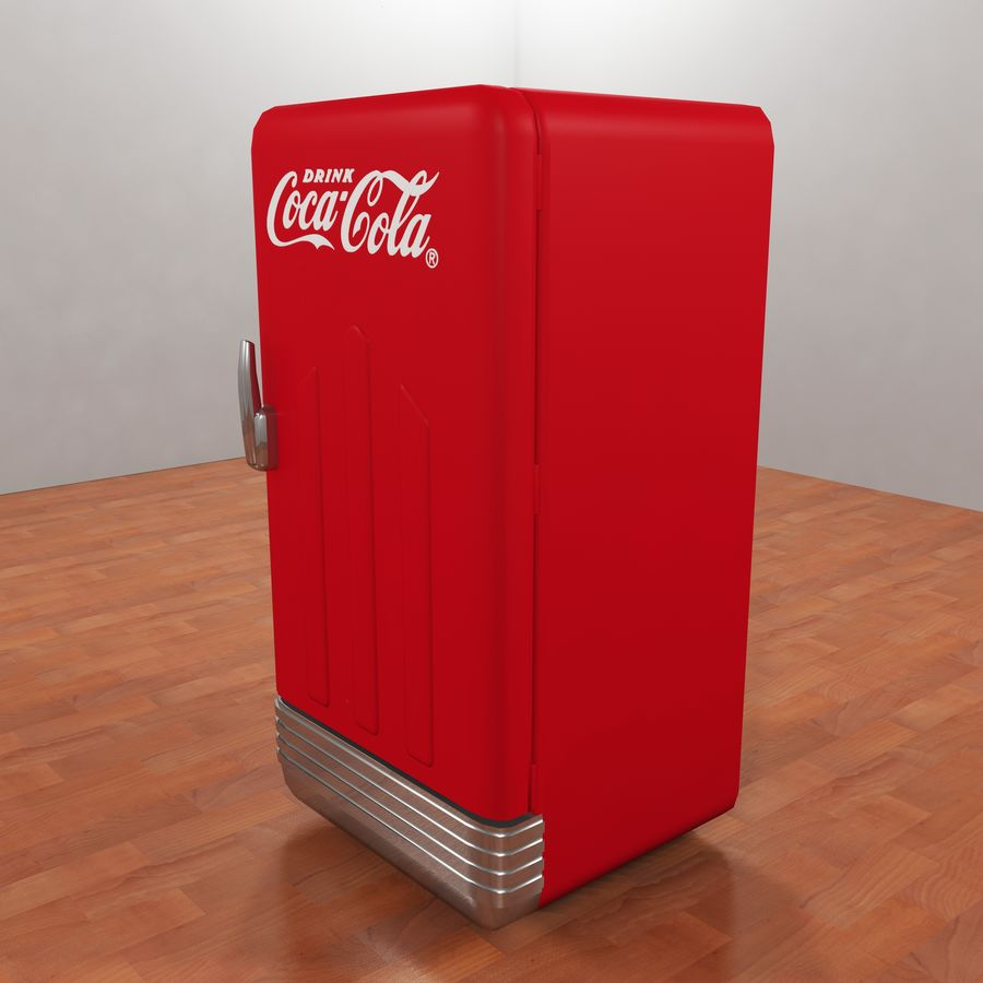 Coca-Cola Refrigerator royalty-free 3d model - Preview no. 2