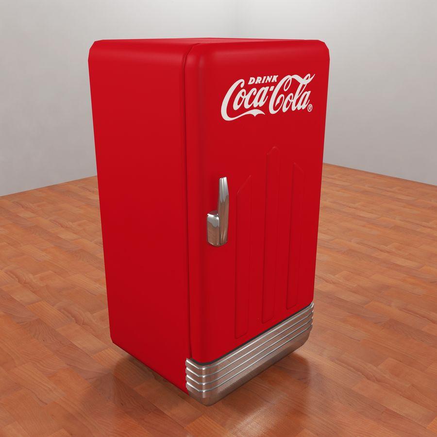 Coca-Cola Refrigerator royalty-free 3d model - Preview no. 1
