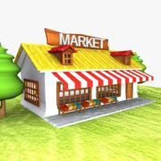 Cartoon Market 3d model