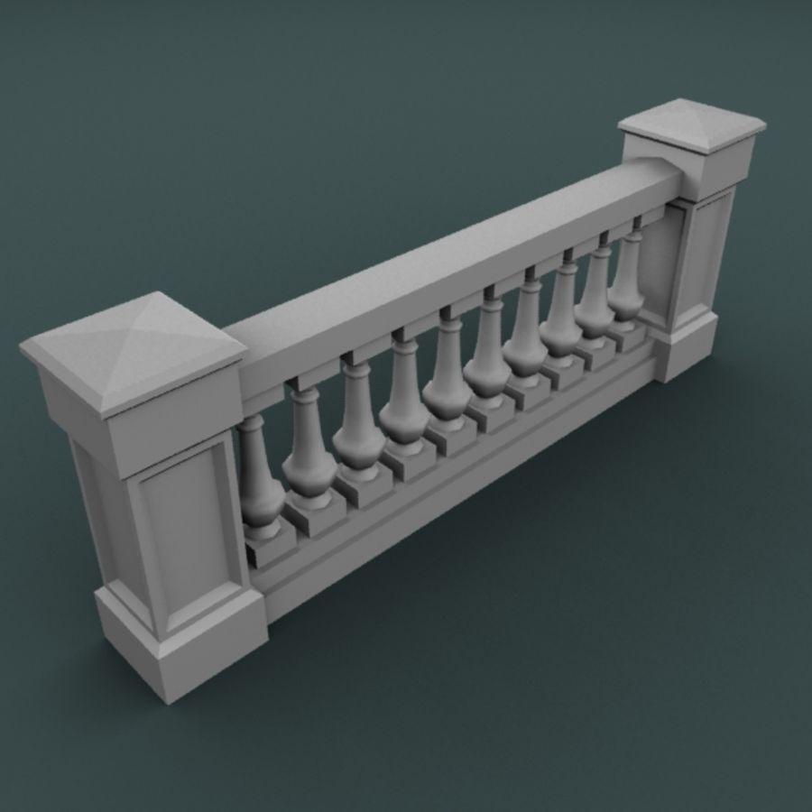 balustrade 002_li10p royalty-free 3d model - Preview no. 2