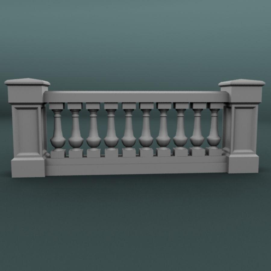 balustrade 002_li10p royalty-free 3d model - Preview no. 1