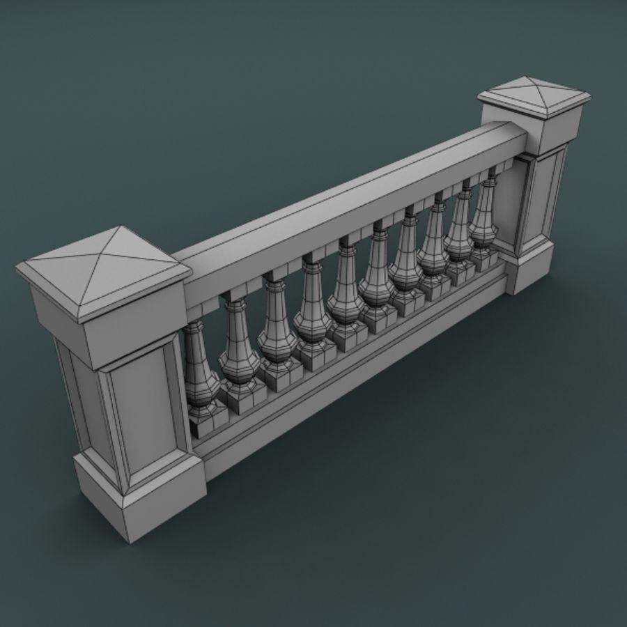 balustrade 002_li10p royalty-free 3d model - Preview no. 3