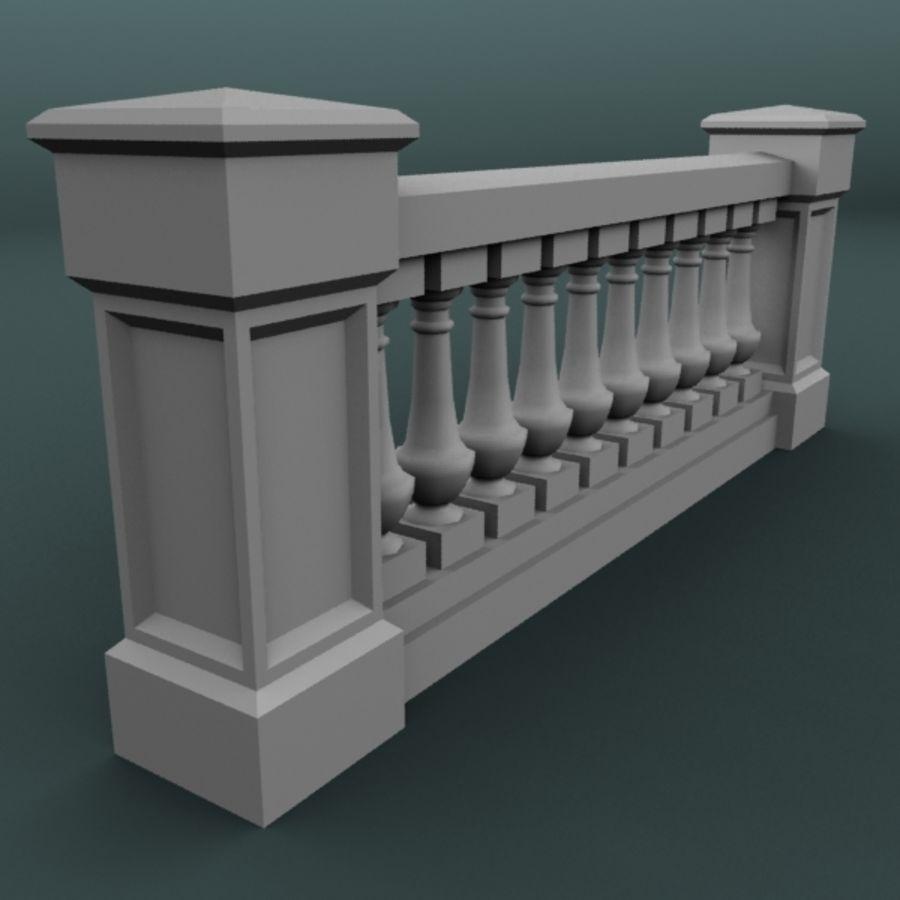 balustrade 002_li10p royalty-free 3d model - Preview no. 4