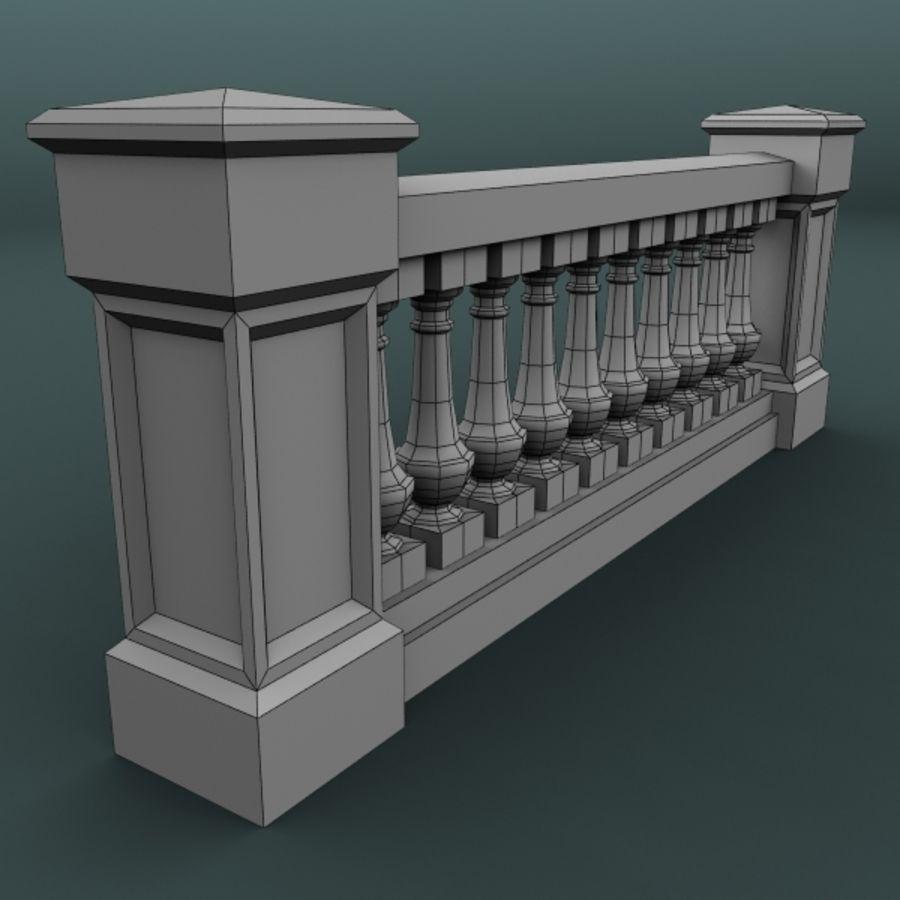 balustrade 002_li10p royalty-free 3d model - Preview no. 5