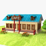 Cartoon Cafe 3d model
