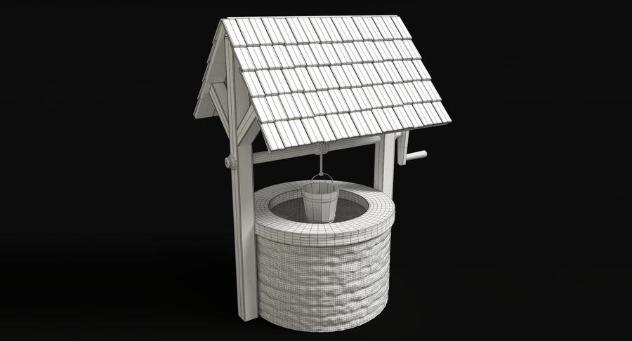 Średniowieczna studnia royalty-free 3d model - Preview no. 6