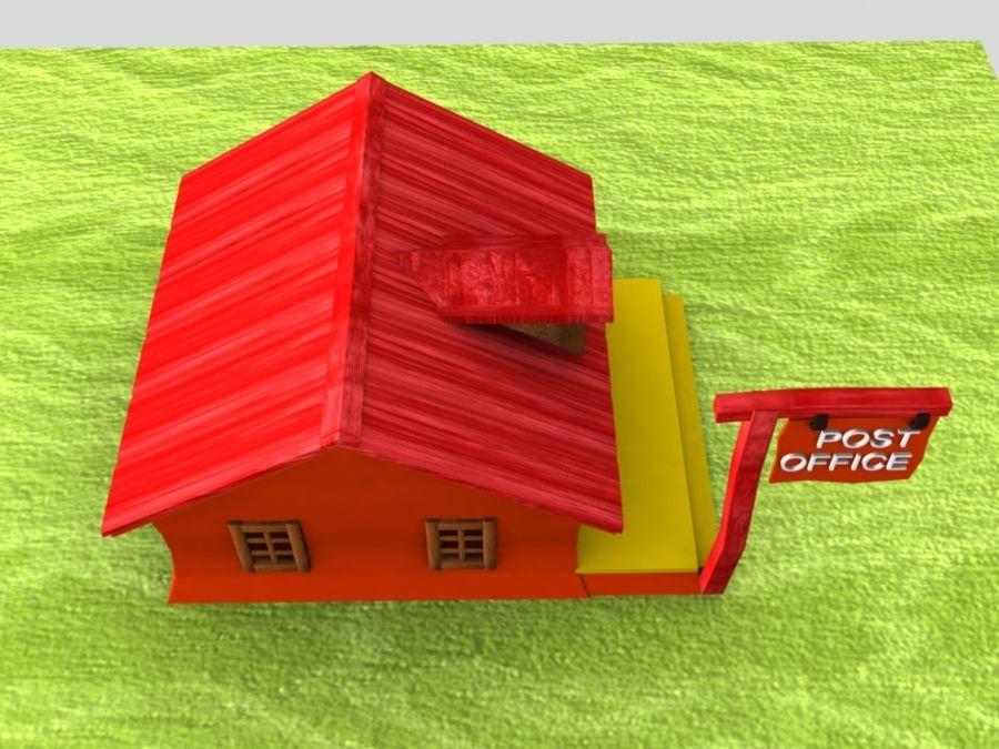 Bureau De Poste De Dessin Animé Modèle 3d 10 Max Obj Oth Fbx