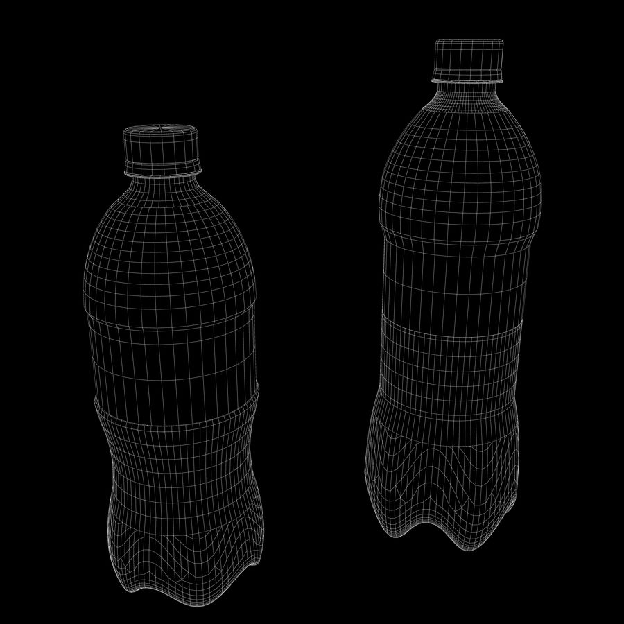 Plastic Pop Bottles royalty-free 3d model - Preview no. 11