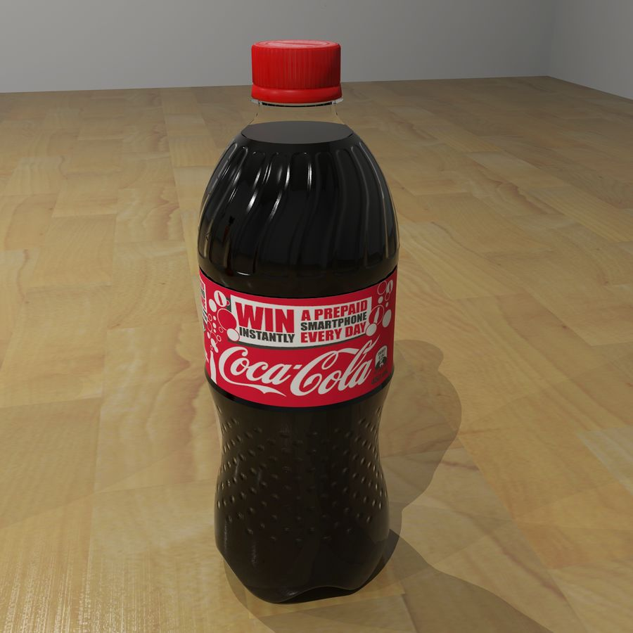 Plastic Pop Bottles royalty-free 3d model - Preview no. 3