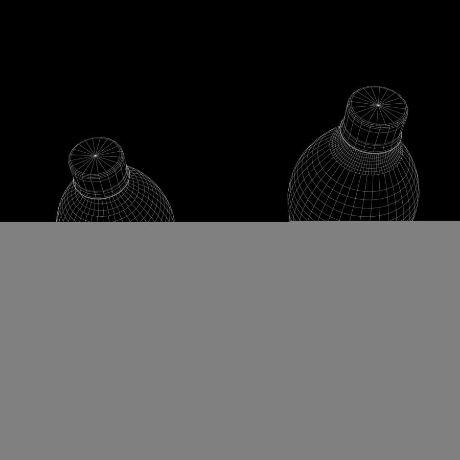 Plastic Pop Bottles royalty-free 3d model - Preview no. 9