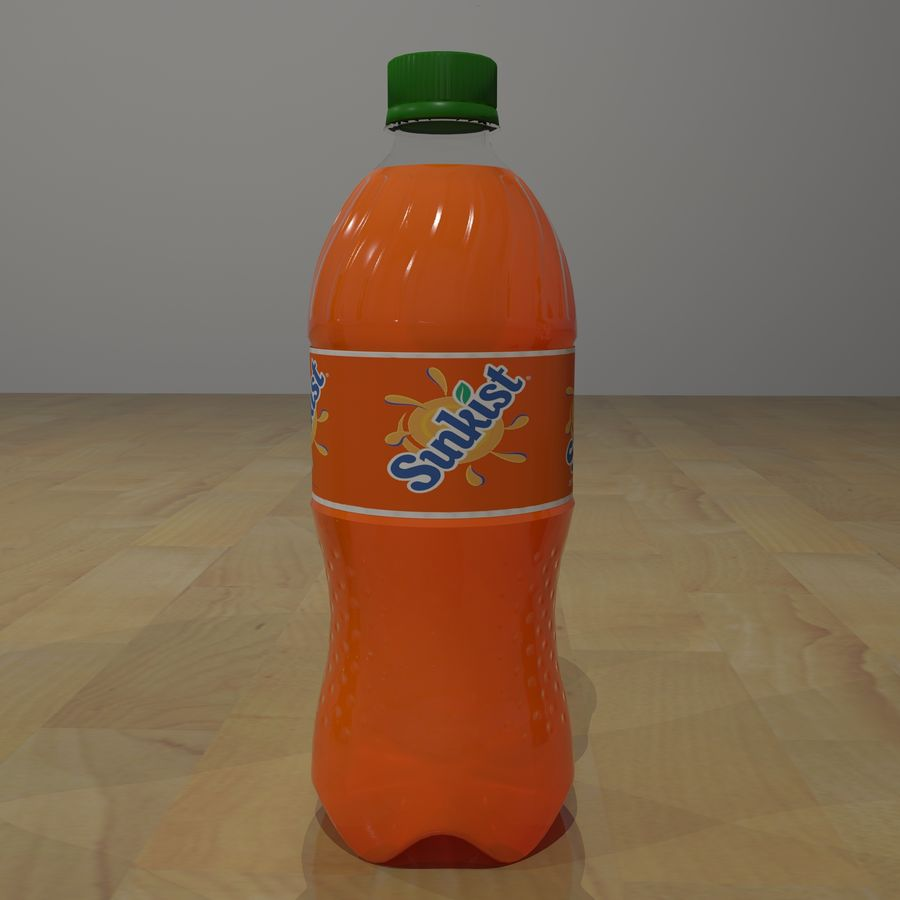 Plastic Pop Bottles royalty-free 3d model - Preview no. 4