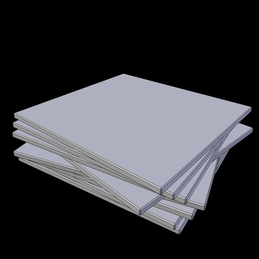 CD case stack royalty-free 3d model - Preview no. 4