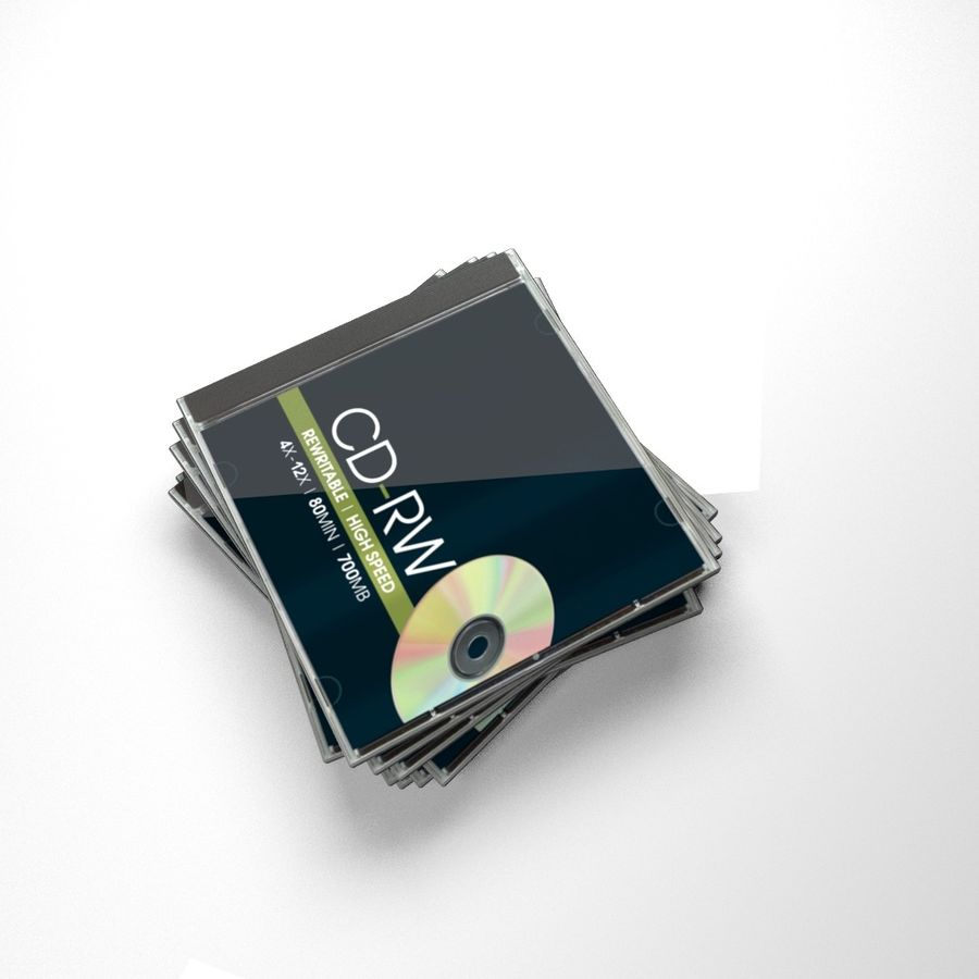 CD case stack royalty-free 3d model - Preview no. 3