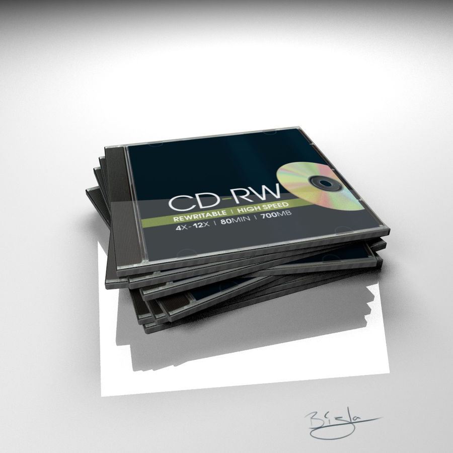 CD case stack royalty-free 3d model - Preview no. 1
