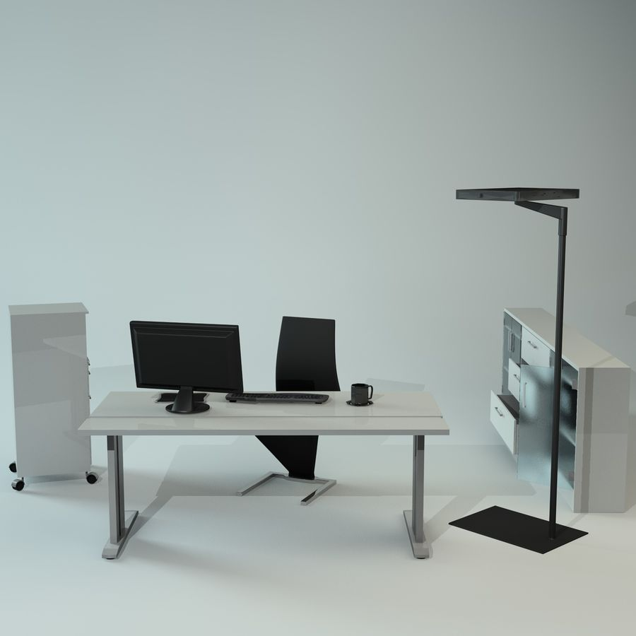 Office Furniture Collection royalty-free 3d model - Preview no. 2