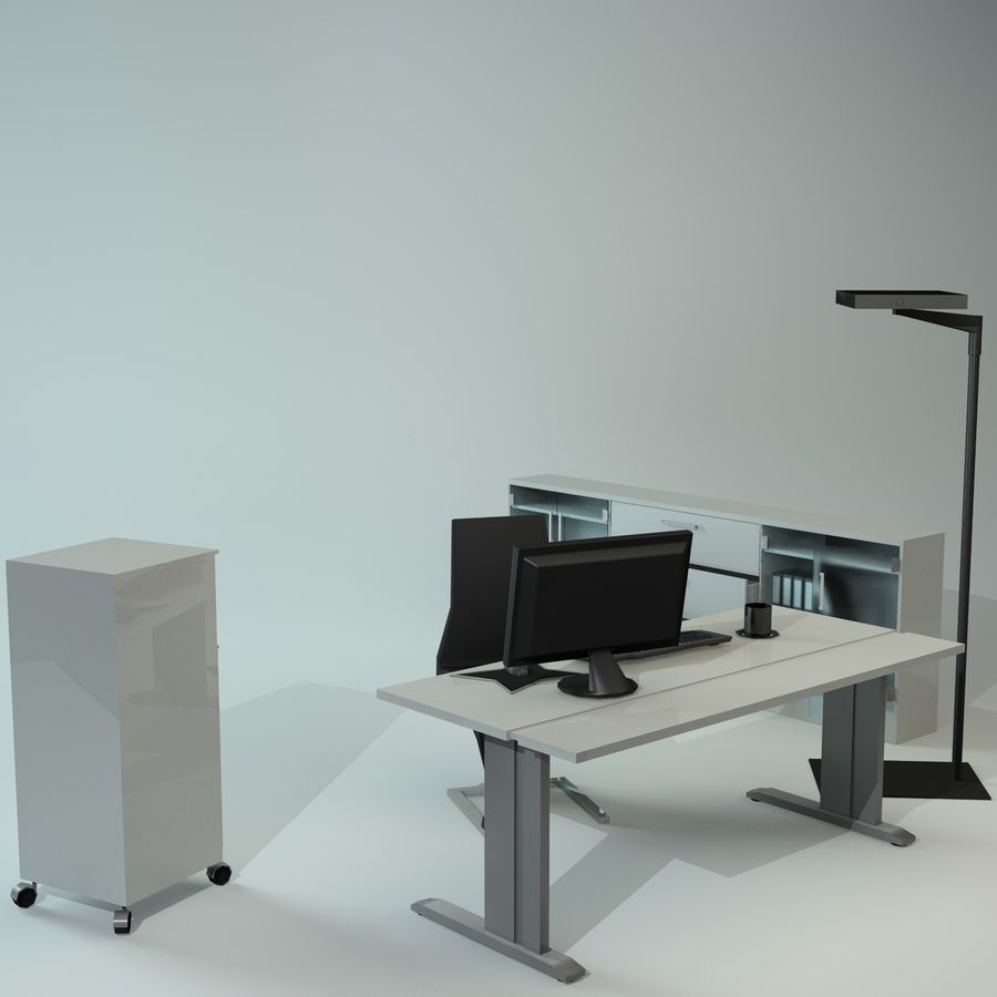 Office Furniture Collection royalty-free 3d model - Preview no. 3