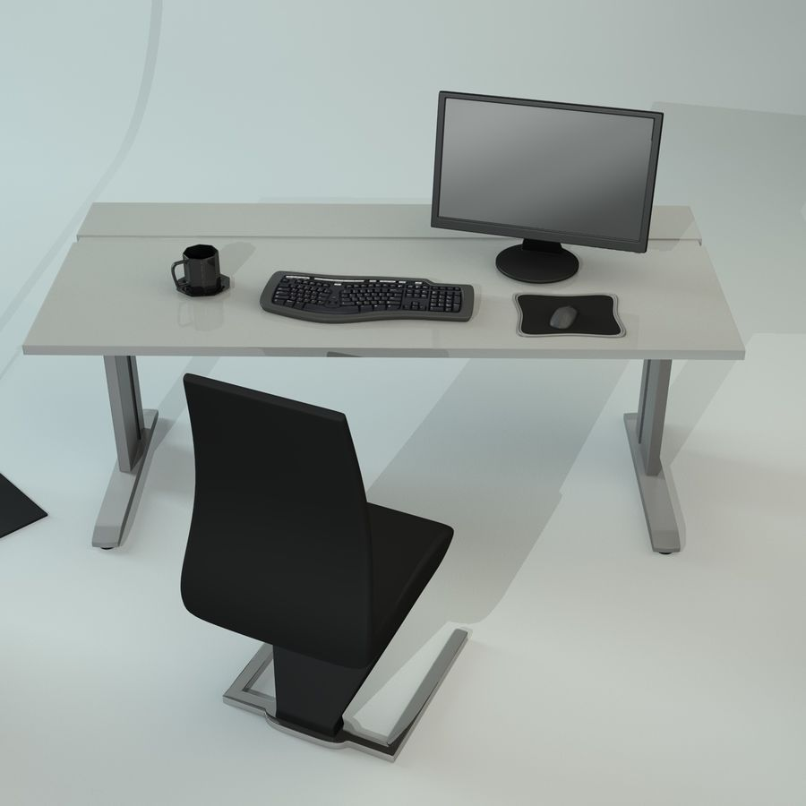 Office Furniture Collection royalty-free 3d model - Preview no. 6