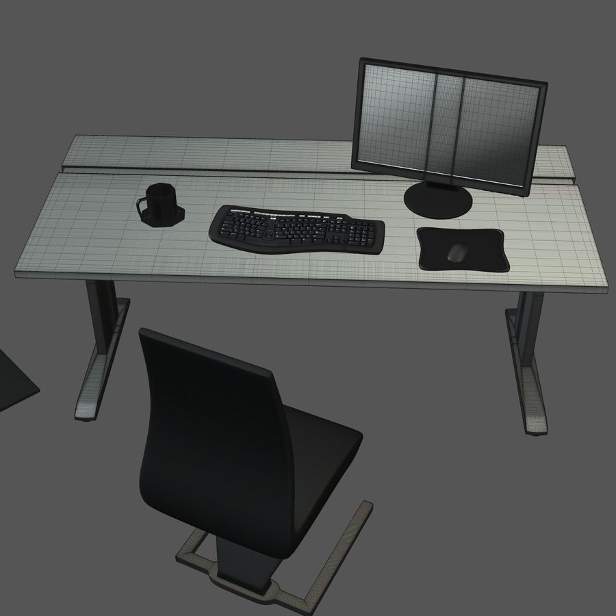 Office Furniture Collection royalty-free 3d model - Preview no. 12