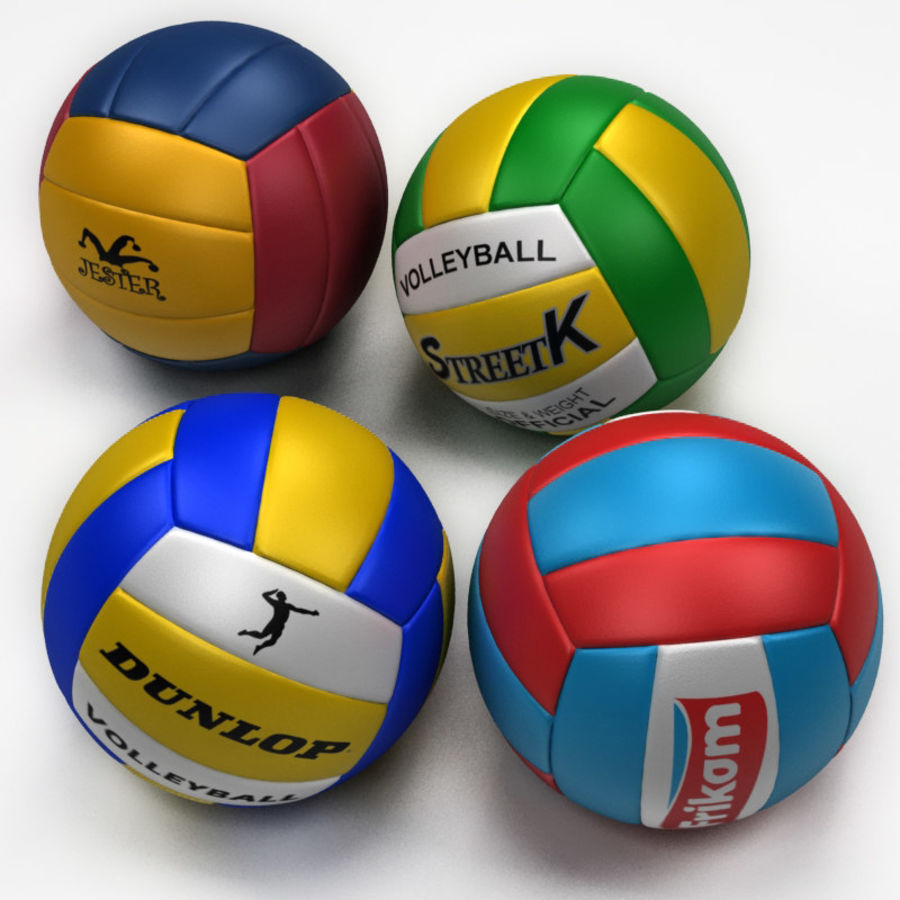 Volley Ball royalty-free 3d model - Preview no. 4