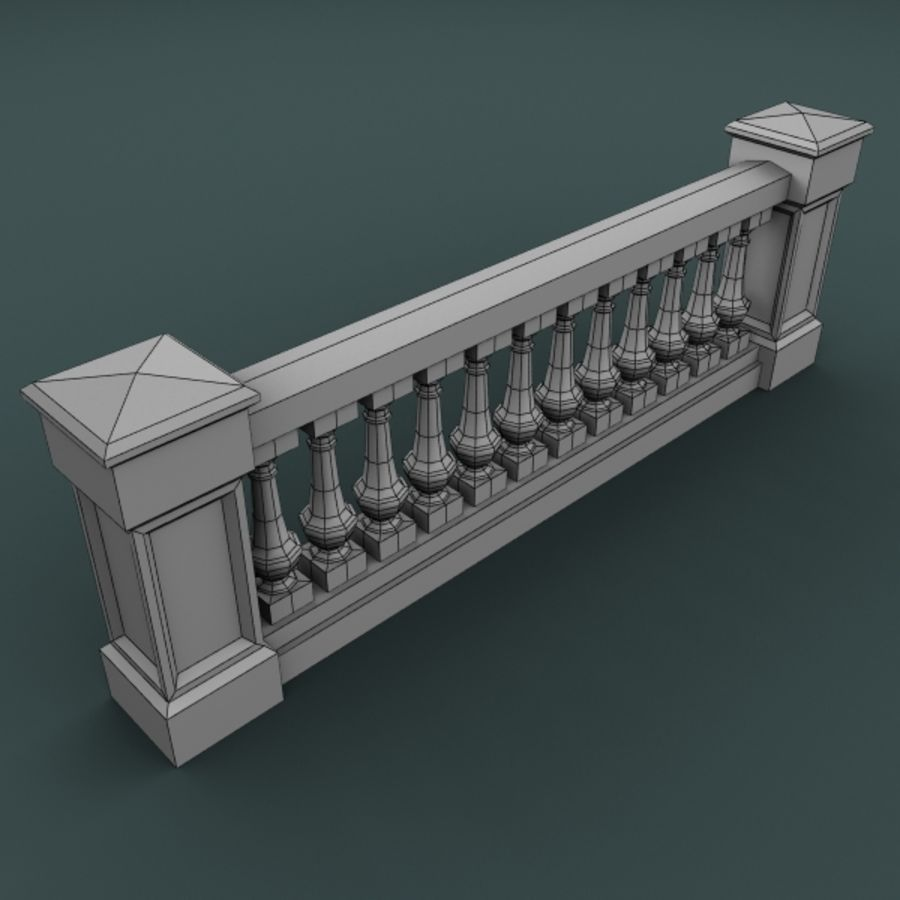 balustrade 002_li12p royalty-free 3d model - Preview no. 3