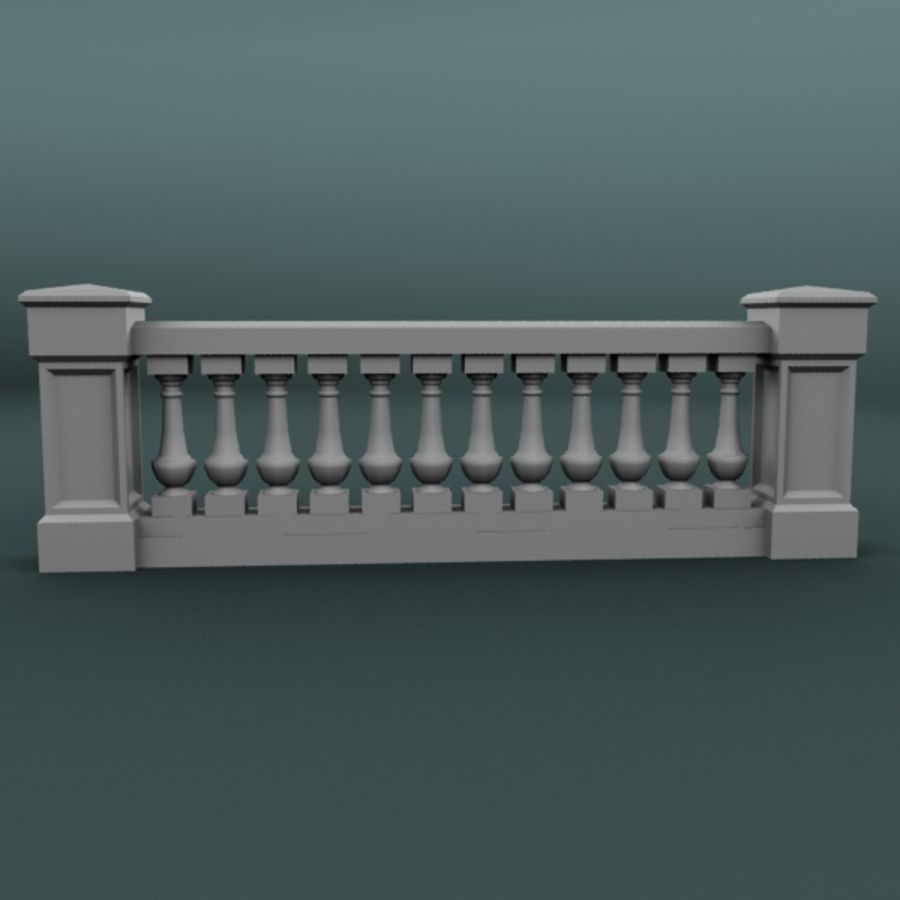 balustrade 002_li12p royalty-free 3d model - Preview no. 1