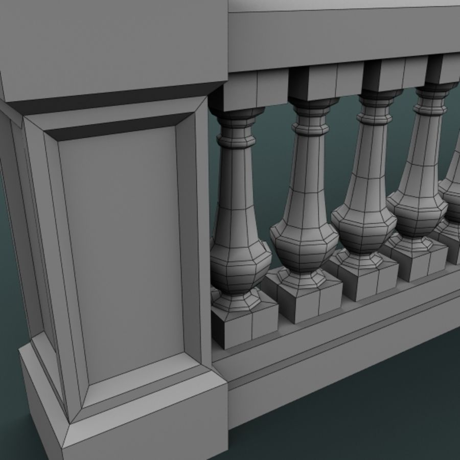 balustrade 002_li12p royalty-free 3d model - Preview no. 6
