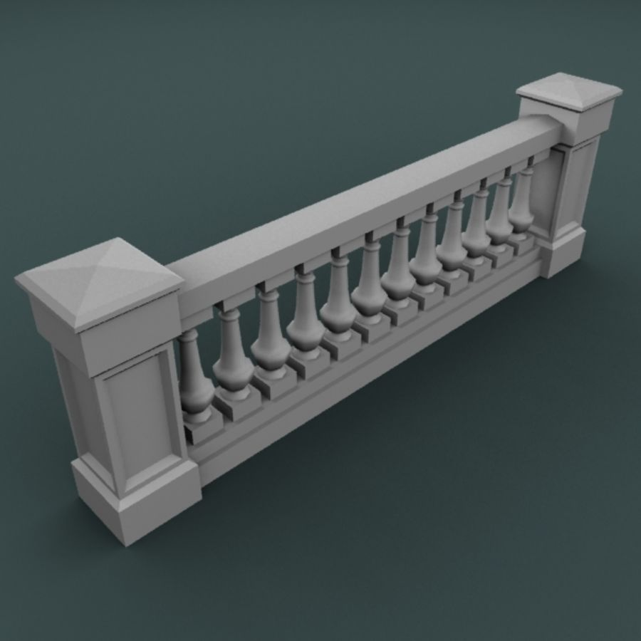 balustrade 002_li12p royalty-free 3d model - Preview no. 2