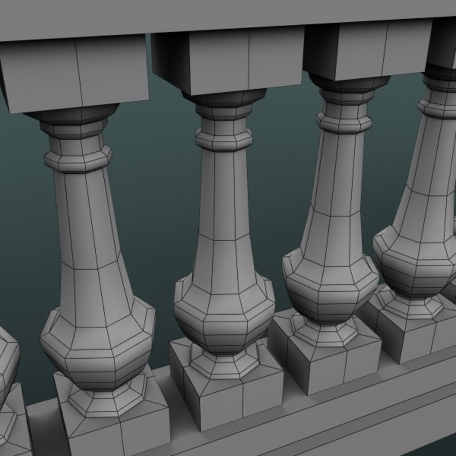 balustrade 002_li12p royalty-free 3d model - Preview no. 7