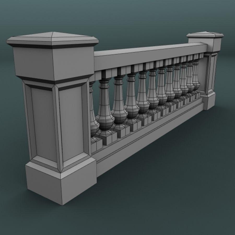 balustrade 002_li12p royalty-free 3d model - Preview no. 5