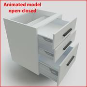 60 cm çekmeceli mutfak mobilyaları 3d model