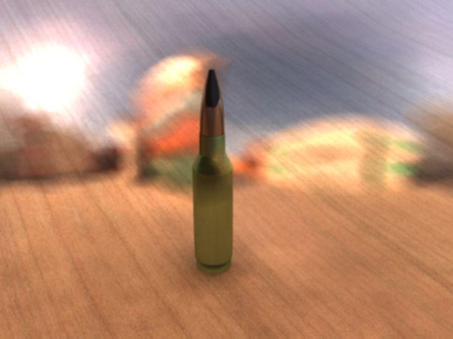30毫米子弹 royalty-free 3d model - Preview no. 3