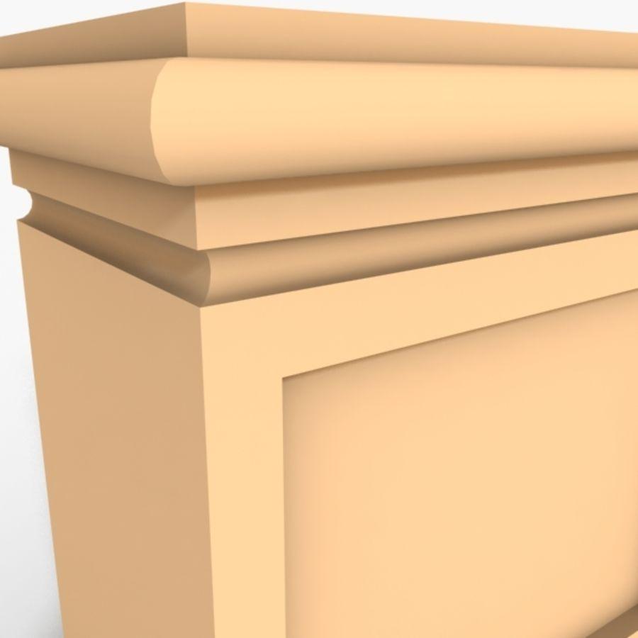 Plinth Block 003 royalty-free 3d model - Preview no. 5