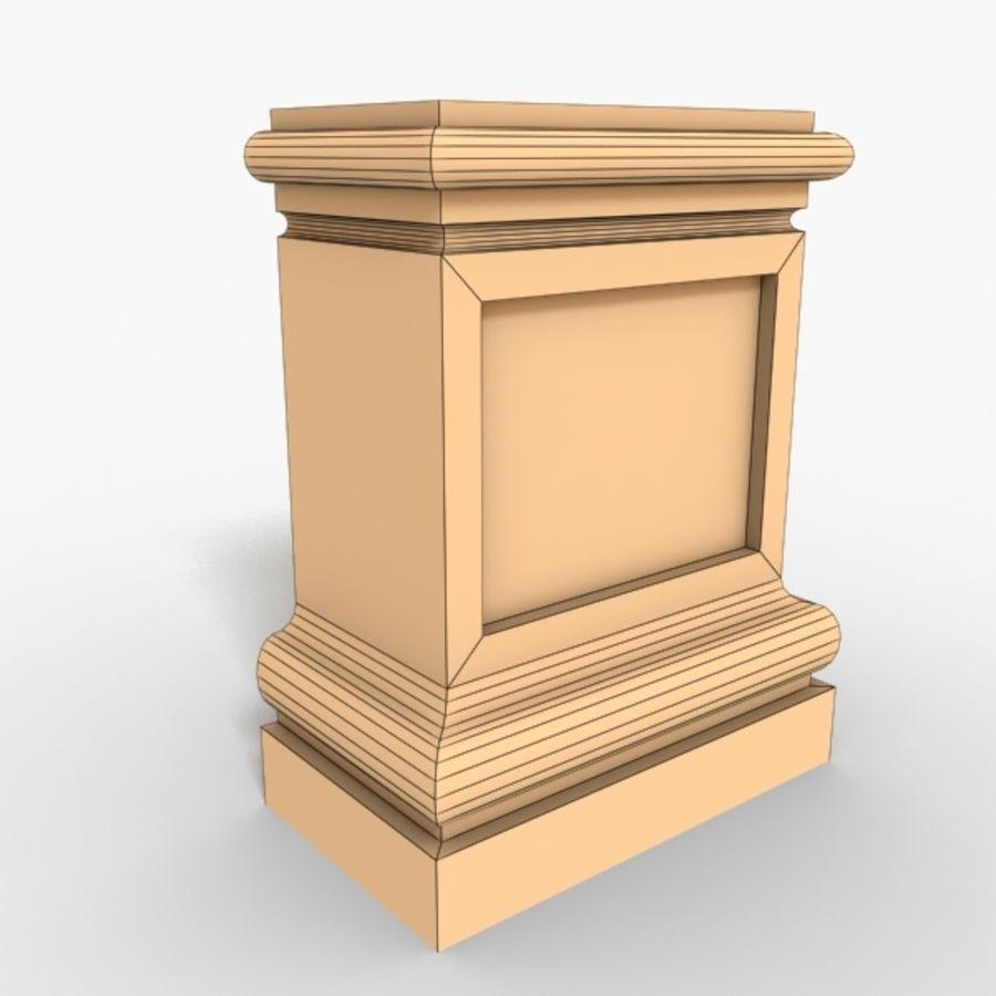 Plinth Block 003 royalty-free 3d model - Preview no. 2